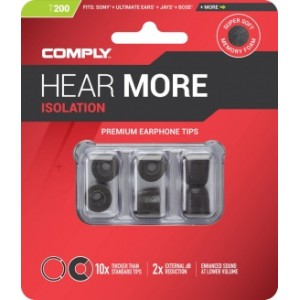 Comply T-200 M Size Black (3 pairs)