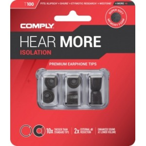 Comply T-100 M Size Black (3 pairs)