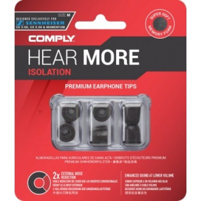 Comply T-167 M Size Black (3 pairs)