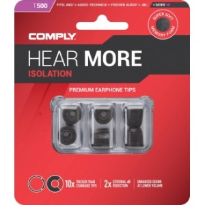 Comply T-500 M Size Black (3 pairs)