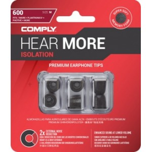 Comply T-600 M Size Black (3 pairs)
