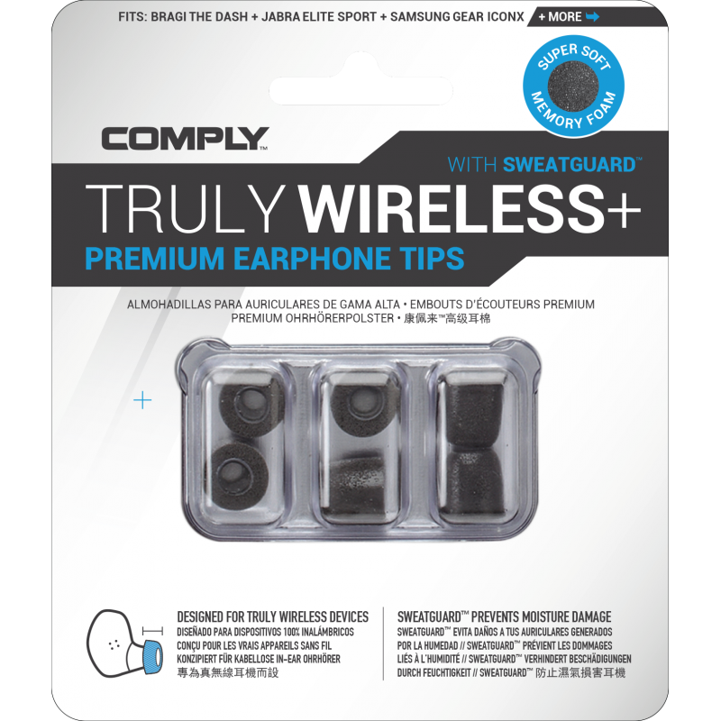 Comply TWX Series Standard Black (3 pairs)