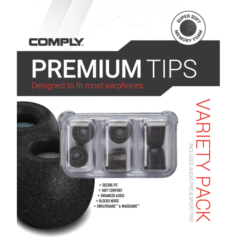 Comply Variety Pack Pro - SmartCore (3 Pairs)